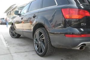 OZ6YA 4Ps Suitable for Au-di 77mm wheel cover tire center cover wheel modified plastic cover Q7 special car standard black